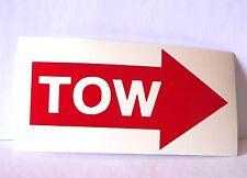 adesivo TOW - freccia traino arrow gancio trackday race racing circuit pista