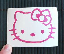 adesivo di Hello Kitty per auto scooter casco vinile NUOVO sticker 75x55mm