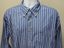 Tommy Hilfiger Button Up Shirt Size XL Blue White Striped Cotton Long Sleeve
