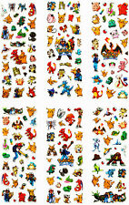 UK SELLER 6 Sheets Pokemon Go 3D Puffy Stickers Craft Scrapbook Pikachu Anime