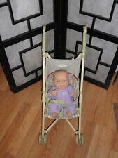 "2 Piece Lot Graco Doll Stroller & Realistic 14"" Berenguer Baby Doll"