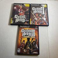 Guitar Hero Trilogy Lot 1 2 3 I II III Legends Of Rock PS2 PlayStation 2 F/S CIB