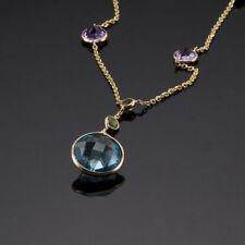 Collar de joyería con gemas de oro amarillo topacio