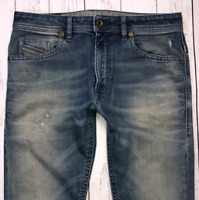 Mens DIESEL Thommer Jeans W32 L32 Blue Slim Skinny Wash 0845F STRETCH