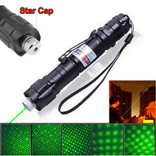 Green Laser Pointer Pen 532nm Boxed Light Lazer Beam UK 5 heads in 1 & charger