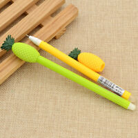 2 Pcs Cute Pineapple Ball Point Pen Kids Stationery Gel Pen Gifts Color Random