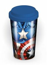 Marvel Comics Captain America Ceramica Viaggio Tazza Con Tappo In Silicone