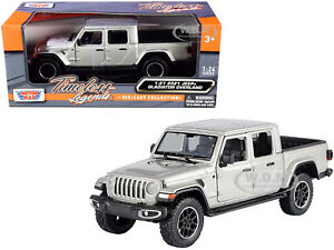 2021 JEEP GLADIATOR OVERLAND (CLOSED) PICKUP SILVER 1/24-1/27 CAR MOTORMAX 79365