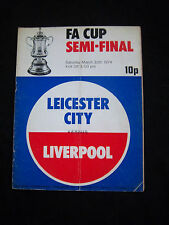 ORIG. PRG England FA Cup 1973/74 Leicester City-Liverpool FC 1/2 finale