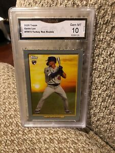 Gavin Lux Turkey Red Rookie 2020 Topps Graded 10 Los Angeles Dodgers