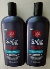 2 Suave MEN Heritage Edition Classic Clean 2in1 Shampoo & Conditioner 12 FL OZ