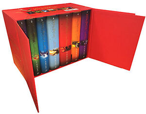 Harry Potter Complete Collection 7 Books Set Collection J.K.Rowling Hardback Red