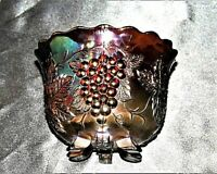 Purple Carnival Glass Bowl AA19-CD0003 Vintage