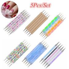 5Pcs/set 2-Way Nail Art Dotting Dot Pen Marbleizing  Tools DIY Mix Tips