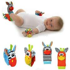 Us Baby Kids Newborn Animal Hand Wrist Bells Foot Sock Rattles Interesting Toys