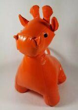 Manhattan Toy Orange Shiny Leather Look Giraffe Stuffed Animal