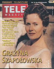 TELE MAGAZYN 99/47 (19/11/99) GRAZYNA SZAPOLOWSKA WESTLIFE JENNIFER GREY (2)