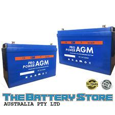 Pro Power 130ah Battery AGM SLA 12 Volt 12v Deep Cycle Dual Fridge Solar