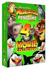 Madagascar And Penguins of Madagascar 4 Movie Collection [DVD] Box Set NEW REG 2
