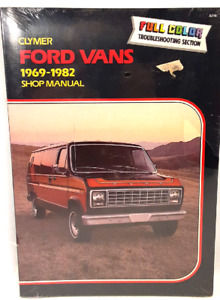 Vintage Clymer Ford Vans 1969-1982 Shop Repair Manual Brand New Factory Sealed