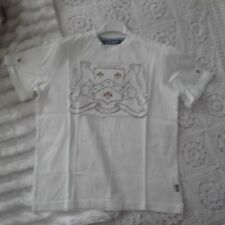 a0a33bc916cf15 Maglia t-shirt Bambino Original Marines 12 ANNI bianca con disegno oro  bambina