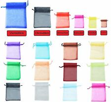 50 LUXURY Organza Gift Bags Jewellery Pouches XMAS Wedding Party Candy Favour