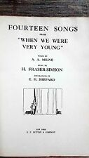 Fourteen Songs from When We Were Very Young by AA Milne Winnie the Pooh
