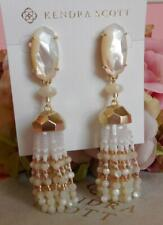 Pearl Tassel Gold Plated Earrings Nwt Kendra Scott Dove Ivory Mother of