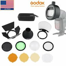 Godox Ak-R1 Round Flash Head + Accessories Adapter S-R1 F Speedlite Tt685 V860Ii