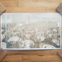 Bell & Howell panorama group photo 1950 banquet hotel commodore new york NYC vtg