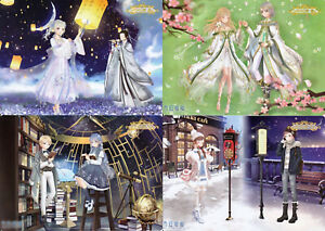 Miracle Love Nikki - Flexible Plastic Jumbo Card LOT of 4 - Time Palace Suits
