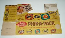 1950's General Mills Pick a Pack Cereal Box