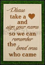 Drop Box Heart Guestbook Sign ONLY Loved Ones