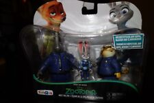 DISNEY TOMY Zootopia Movie Figure 3x Set Officer Judy McHorn Clawhauser New