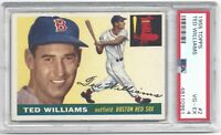 1955 55 Topps Ted Williams Vintage Baseball Card #2 Boston Red Sox - VG-EX PSA 4