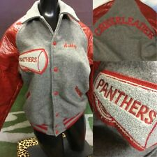 Vintage Real Cheerleading Uniform Jacket Ashley Youth XL Adult S