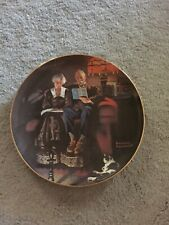 Collection Plate Norman Rockwell Light Campaign Evening'S Ease