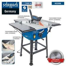 Scheppach Table Saw HS200L 2000W with Laser, 2 Tischverbreiterungen