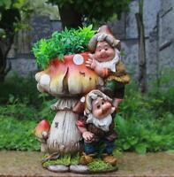 Design Zwerg Pilz mit Blumentopf NF 15199 32 cm Hoch Deko Garten Gartenzwerg