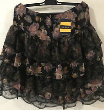 With Tags Ralph Lauren Rugby Silk Blend Lace Floral Layered Skirt Sz S