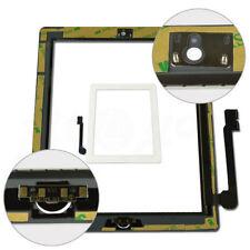BIANCO DI RICAMBIO PER IPAD 3 4 Touch Screen Anteriore Vetro Digitizer Pulsante Home