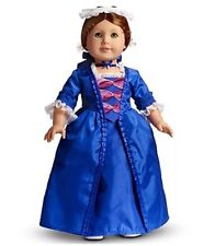 American Girl FELICITY HOLIDAY OUTFIT Retired Blue White Lace Gown & Acc NIB