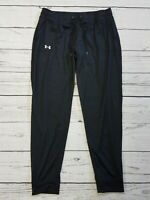 Under Armour Heat Gear Jogger Pants Mens Size Large Black Tapered Leg Athletic C