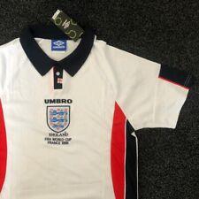 Retro England Football Shirt World Cup 98 White Medium