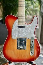 FENDER 2006 AMERICAN DELUXE TELECASTER with CASE -CHERRY BURST 60th ANNIVERSARY