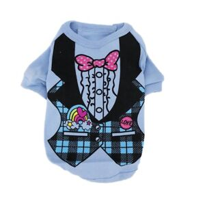 Dog Puppy Cat Clothes Apparel Polo Shirt Vest T-Shirt Top For SMALL Pet XXS - L