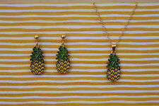 Pendientes colgantes De moda Piña Y Collar De Piña