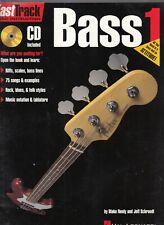 FastTrack Bass Method Book 1 & Audio Music Instruction Hal Leonar Pb 1997