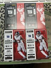 4x NFL ODELL BECKHAM JR. NY GIANTS #81 CONTENDERS 2017 SEASON TICKET N/M BID NOW
