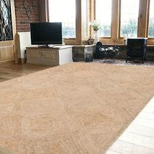 Extra Large Floor Rug Beige Modern Designer Jute Carpet 270x180 FREE DELIVERY